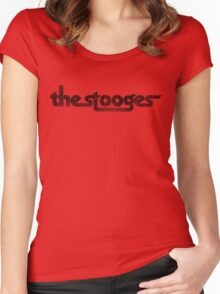 The Stooges (black - distressed) Women's Fitted Scoop T-Shirt
