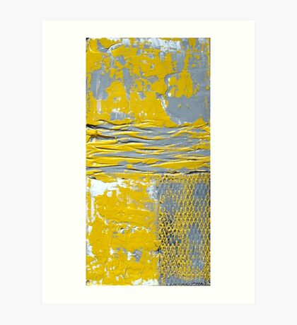Yellow and Grey Abstract Art Set URBAN CHIC by Holly Anderson Art Print