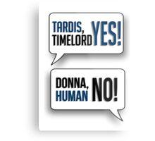 Tardis, Timelord, YES! Metal Print