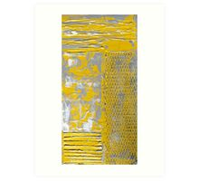 Contemporary Yellow and Grey Art Set by Holly Anderson Art Print