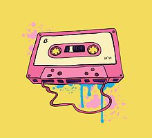 Retro cassette tape. by Katyau