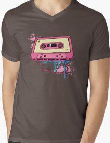 Retro cassette tape. Mens V-Neck T-Shirt