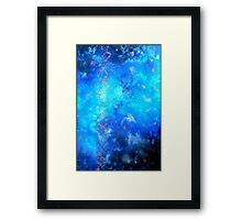 Fluid Acrylic Painting Blue and Black by Holly Anderson TRANSCEND  Framed Print