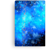 Fluid Acrylic Painting Blue and Black by Holly Anderson TRANSCEND  Canvas Print