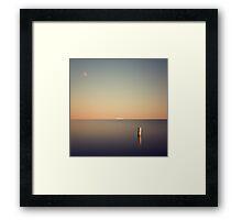 Ship at the horizon Framed Print