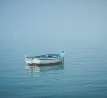 Boat in the Mist by LizSB