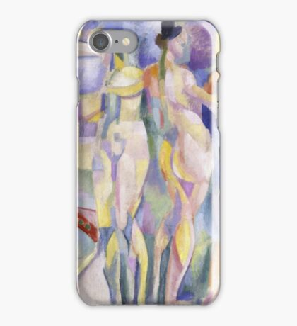 Robert Delaunay - La Ville De Paris. Abstract painting: abstraction, geometric, Nude Woman, composition, lines, forms, creative fusion, music, kaleidoscope, illusion, fantasy future iPhone Case/Skin