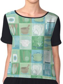 In the Kitchen Chiffon Top
