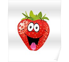 smiling Strawberry  Poster