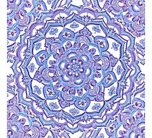 Lilac Spring Doodle Flower Photographic Print