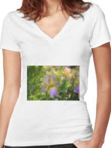 A touch of lavender Women's Fitted V-Neck T-Shirt