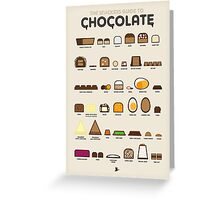 The Snackers Guide to Chocolate Greeting Card