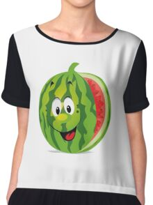smiling watermelon, cartoon Chiffon Top