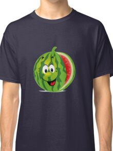 smiling watermelon, cartoon Classic T-Shirt
