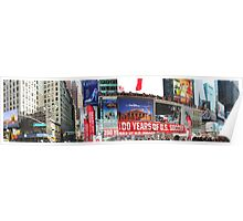 Times Square Panorama Poster