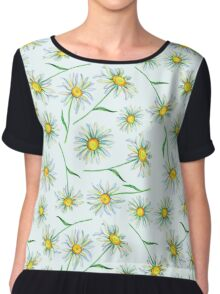 Watercolor daisies pattern Chiffon Top