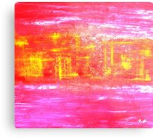 Pink City Yellow Metal Print