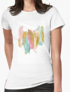 Gilded pastels Womens Fitted T-Shirt