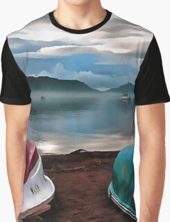 Hulls of Boats And Marmaris Winter Seascape Graphic T-Shirt