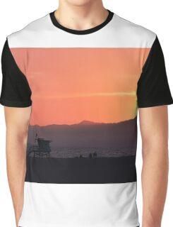 Venice Beach Sunset Graphic T-Shirt