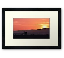 Venice Beach Sunset Framed Print
