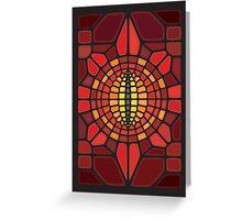 Eye of Sauron II Voronoi Greeting Card