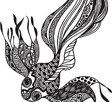 Prints of Gold Fish #2 hand drawn art by martywoodskk