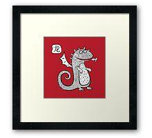 Cartoon dragon.  Framed Print