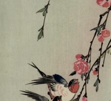 Moon Swallows and Peach Blossoms - Hiroshige Ando - 1850.tif Sticker