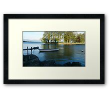 Rolle Port - Suisse Framed Print