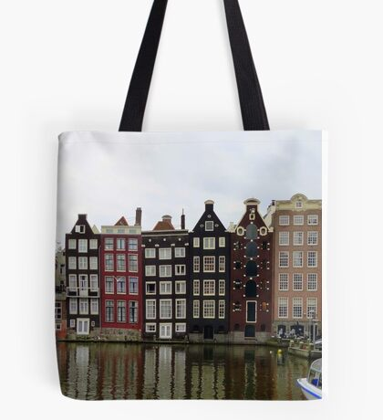 Amsterdam canal homes Tote Bag