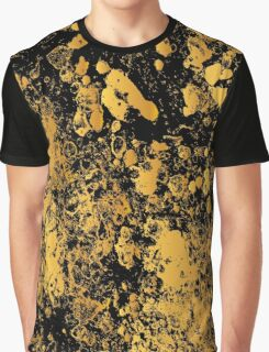Black and gold modern abstract marble pattern Graphic T-Shirt