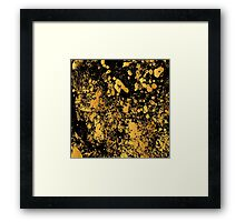 Black and gold modern abstract marble pattern Framed Print