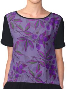 Watercolor bramble pattern Chiffon Top