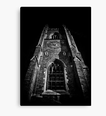 Clock Tower Soldiers Tower University Of Toronto Campus Canvas Print