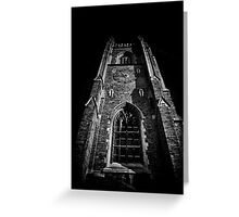 Clock Tower Soldiers Tower University Of Toronto Campus Greeting Card