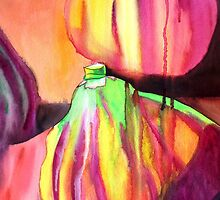 Purple Figs paint drip watercolour art by grosselart