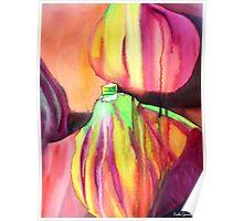 Purple Figs paint drip watercolour art Poster