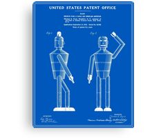 Robot Patent - Blueprint Canvas Print