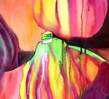 Purple figs fruit art by grosselart