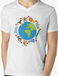 We Love Our Planet! Mens V-Neck T-Shirt