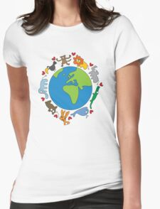 We Love Our Planet! Womens Fitted T-Shirt