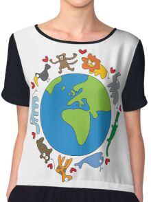 We Love Our Planet! Chiffon Top