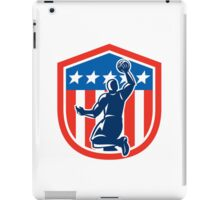 American Basketball Player Dunk Rear Shield Retro iPad Case/Skin