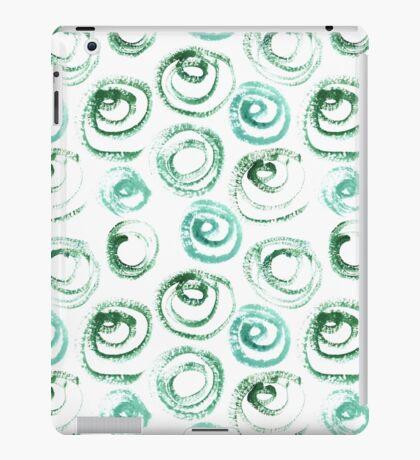 Dry brush swirls iPad Case/Skin