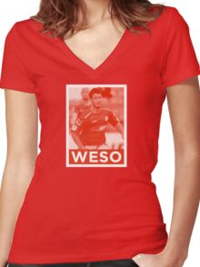 WESO Women's Fitted V-Neck T-Shirt