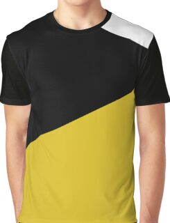 Blocks - Mustard & Black Graphic T-Shirt