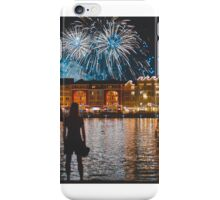 two couple watching fireworks iPhone Case/Skin