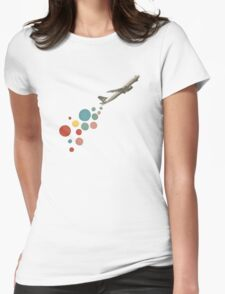 Leaving on a Jet Plane Womens Fitted T-Shirt