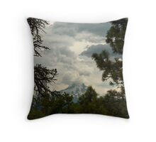 The Framing Of Mount Hood ©  Throw Pillow